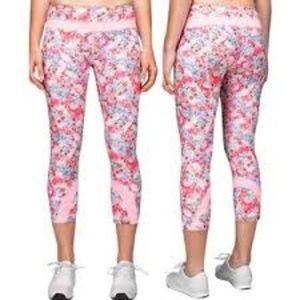 Lululemon Inspire Run Crop Pink Floral